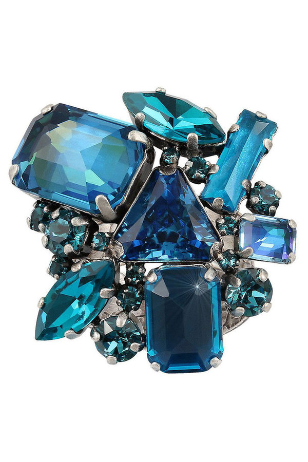 Konplott Ring mix the rocks blau