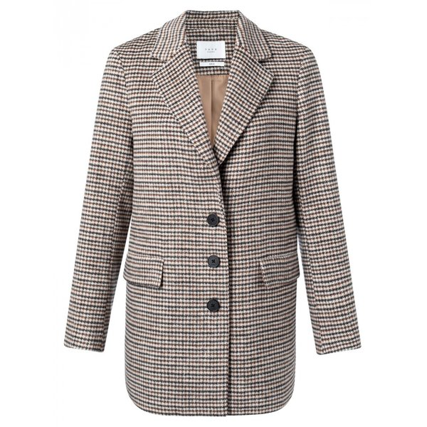 Blazer soft wool mix braun Karo Sale