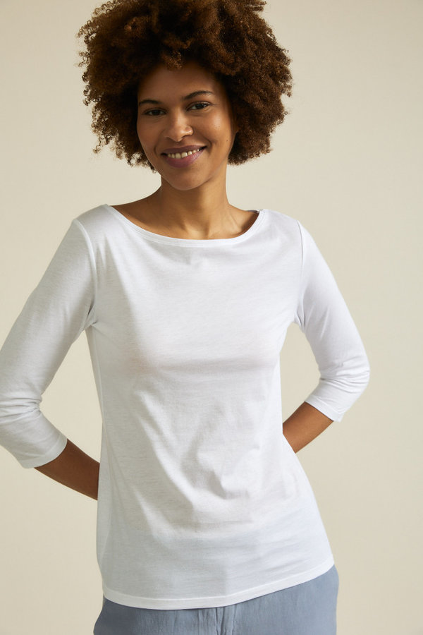 Shirt U-Boot white Bio Baumwolle