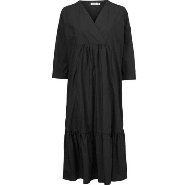 Kleid lang schwarz Popeline Masai - Sinneslust webshop